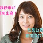 相武紗季が2人目の子供を出産!性別を公表した理由は?芸能界への復帰は?