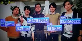 松丸亮吾とDaiGoの家族写真